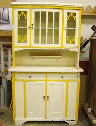 k chenschrank vor der restaurierung andr hackradt gestaltendes holzhandwerk und. Black Bedroom Furniture Sets. Home Design Ideas